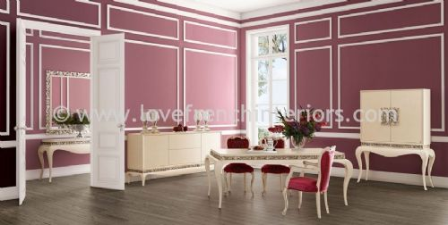 Luxus Dining Collection in Burgundy and Cream